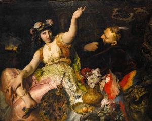 Ferdinand Keller - 'Scheherazade und Sultan_Schariar'_(1880)