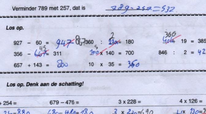 Algebra in de lagere school
